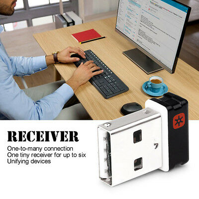 Pro Unifying USB Receiver/Dongle Logitech Keyboard/Mouse-Upto 6 Devi BBC