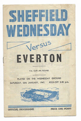 1946/47 FA Cup 4th Round - SHEFFIELD WEDNESDAY v. EVERTON