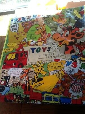Toys R Us Vintage Advertisements Exclusive Reusable Shopping Bag Tote Gift Bag!!