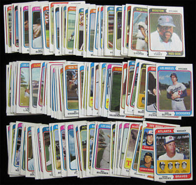 1974 Topps Baseball 100 Card Lot Low-Mid Grade Starter Set Mathews Sutton Tiant