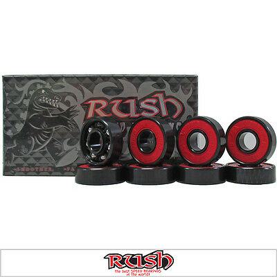 Rush Hybrid Titanium Ceramic Combination Skateboard Bearings