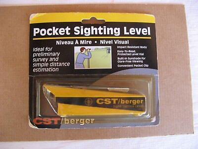 CST / Berger Pocket Sighting Level - 17-620A - Sight / Surface