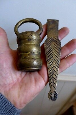 Vintage Brass Padlock with one key, unique, many other padlocks available 19-09