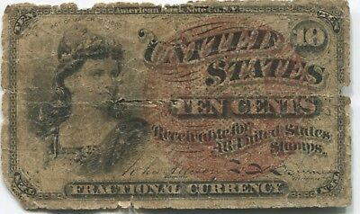 10 Cent Fractional Currency Fair Condition (OL318)