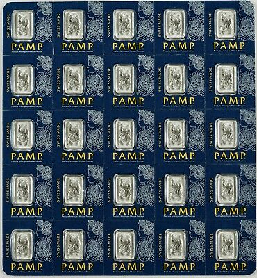 25 x 1 Platinum Bar - PAMP Suisse Fortuna -- 999.5 Fine - The Deal is back!