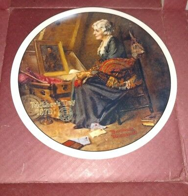 VTG 1979 Reflection Norman Rockwell Classic Mothers Day Collector Plate # 04559B