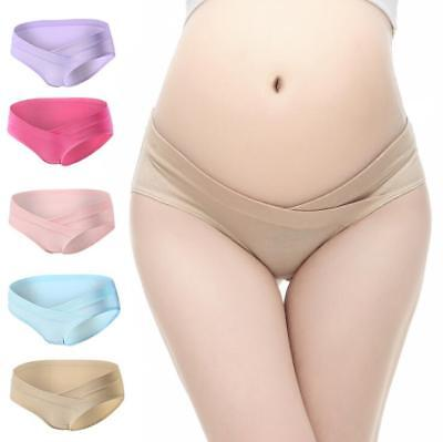 Pregnant Low Waist Cotton Briefs Seamless Panties Underwear Knickers Underpants