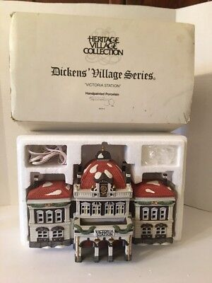 Dept 56 Victoria Train Station Dickens Village 55743 Lighted Heritage Collection