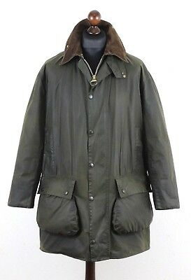 BARBOUR A200 Border Thornproof waxed jacket size C 40 Made in England Authentic