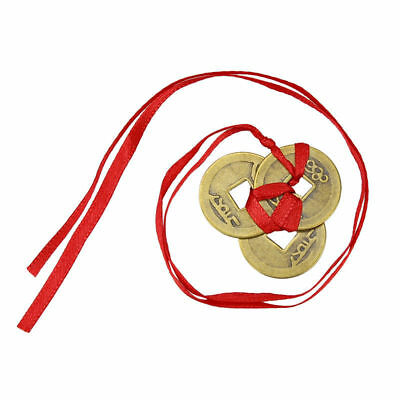 Good Luck Coins Hanging Feng Shui Copper Chinese Knot Fortune Prosperity
