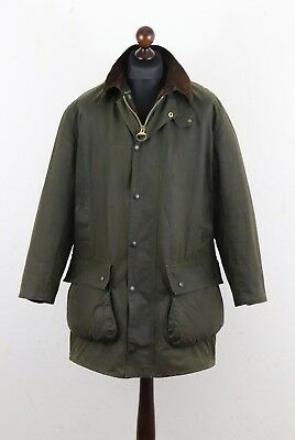 BARBOUR Vintage 2 Crest Northumbria Waxed Jacket Coat Heavy 8 Oz Sz C 40 / 102cm