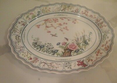 Franklin Mint Birds and Flowers of the Orient Serving Tray Platter