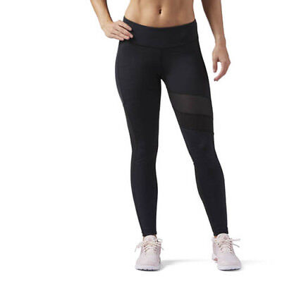 83ecc3149993d6 Reebok CF3174 Women Training Activ Chill tights Mesh long pants black