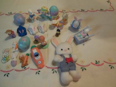Lot 22 Vintage 1976+ Hallmark Easter Merry Miniature Plush Figures Crayola Betsy