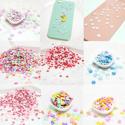 10g DIY Polymer Clay Fake Candy Sweets Sugar Sprinkles Decor for Phone Shell