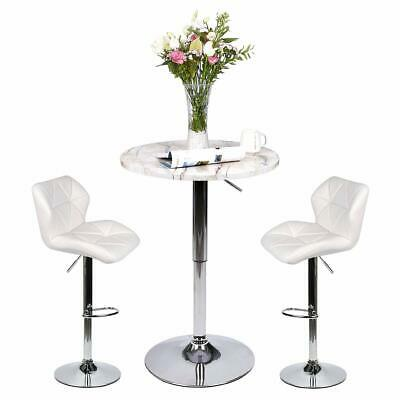 3 Piece Pub Table Set Bar Stool Dining Chairs Adjustable Counter Height Kitchen