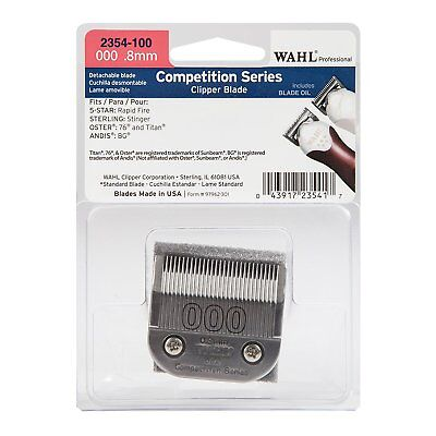 Wahl Professional 2354-100 Competition Series Clipper Blade 000 0.8 mm New