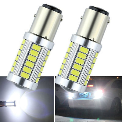2x Xenon White 1157 BAY15D 5630 33SMD LED Car Backup Reverse Lights from Canada