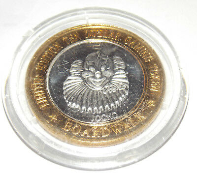 BOARDWALK Hotel & Casino $10 SILVER STRIKE Las Vegas Nevada Jocko Clown Token NV
