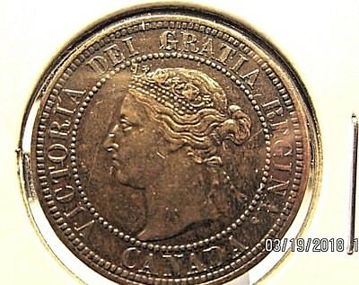 Canada 1888 Large cent great condition