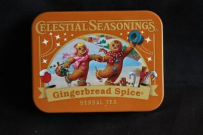 2017 Collectable Tin Celestial Seasonings Herbal Tea Gingerbread Spice New #2