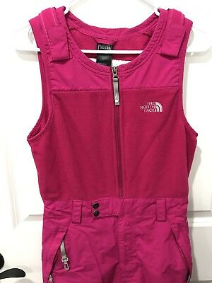 Girls North Face Insulated Overalls Bibs Pants, Hyvent, Adjustable, Large 14/16