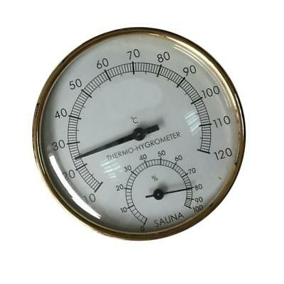 Metal Sauna Hygrothermograph Thermometer Hygrometer Sauna Room Accessory