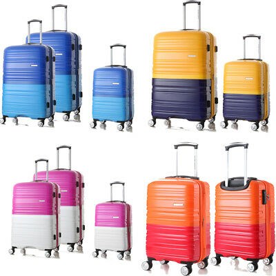 New Luggage Set Travel Hard Spinner Hardside Shell Suitcase TSA Lock Colorful