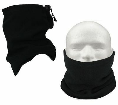 Black Neckwarmer Thermal Polar Fleece Snood Motorbike Cycling Riding Mens