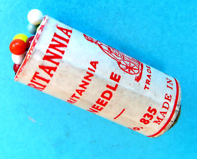 """Antique  Advertising Paper Wrapped """"britannia"""" Berry Pins.sewing"""