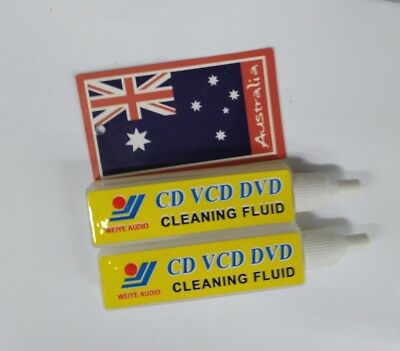 2x CD VCD DVD cleaning fluid