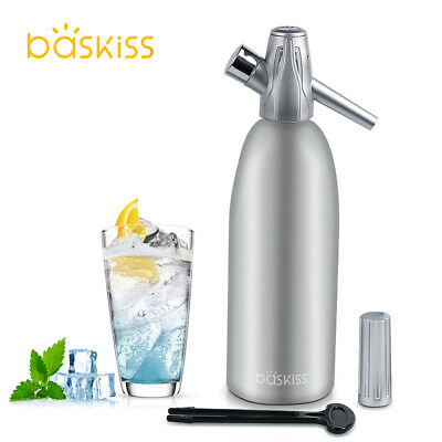 Baskiss 1L Soda Syphon Siphon Maker Bar Home Seltzer Juice Drinks Cocktail