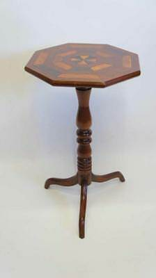 Victorian inlaid Mahogany Octagonal, top tilt, wine or occasional table