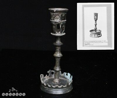 Medieval 15th Century Bronze / Brass Alloy Candlestick