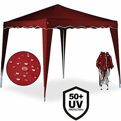Cenador plegable de jardín carpa de plástico impermeable pop-up 3 x 3  Naranja