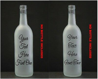 Customised  Wine Bottle Vinyl Sticker . Design your own LED memory personalised