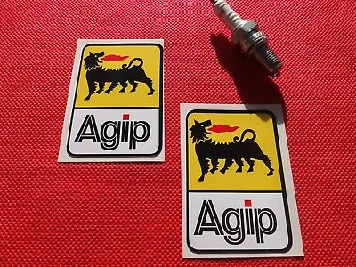 Pair of Agip stickers F1