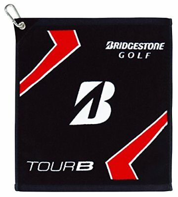 BRIDGESTONE JAPAN Golf Hand Towel TOUR B with hook Black TWG61 2017 Japan new .