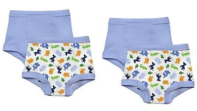 NEW 4 Pk Green Sprouts Boy's 3T Washable Potty Training Pants Underwear Animals