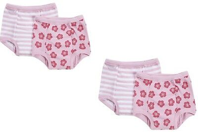 NEW 4 Pk Green Sprouts Girl's 18M Washable Potty Training Pants Underwear