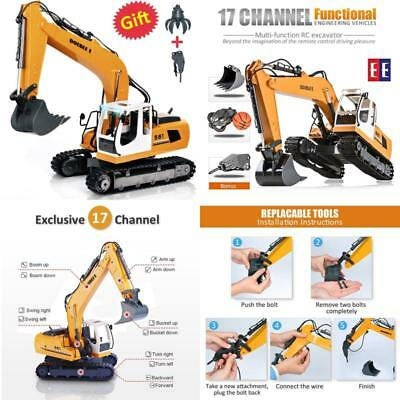 Double E 17 Channel Three in one RC Excavator Metal Shovel Remote Control Constr