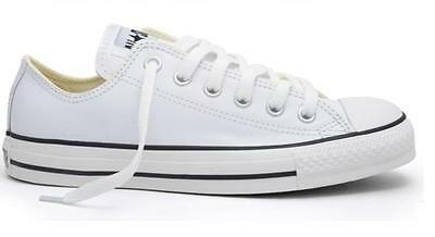 New Converse All Star Classic Chuck Taylor White Leather Low US Men 7-8 1Q550