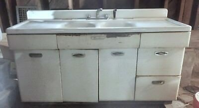 1940\'S METAL KITCHEN Cabinets with Sink by MORTON All ...
