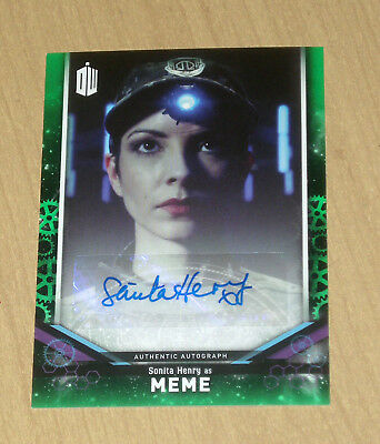 2018 Topps Doctor Who signature series Green AUTOGRAPH Sonita Henry as MEME /50