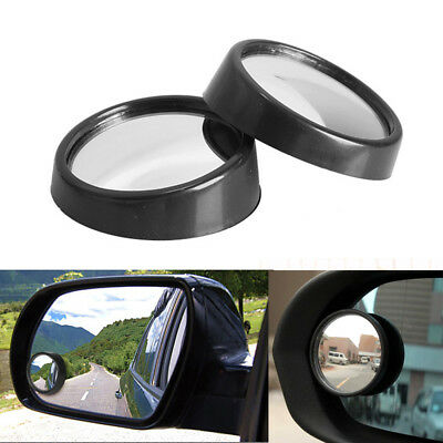 2x Car HD Mirror RearView Wide Angle Adjustable Blind Spot Side Parking Mirror