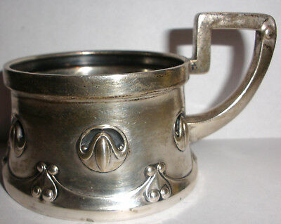 Exquisite Antique Germany Arts and Crafts 800 Silver baby cup