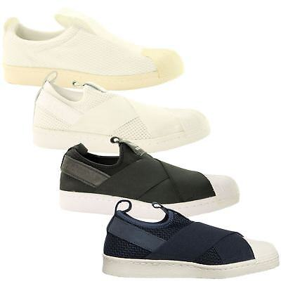 Adidas Superstar Slip - on  mujer 's Trainers ~ originales ~ 4 colores ~ PvP