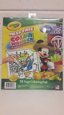 NEW CRAYOLA COLOR Wonder 18-Page Mess Free Coloring Pad Mickey Mouse ...