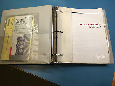 HP 3457A Multimeter Operating Manual P/N 03457-90003 - very good condition