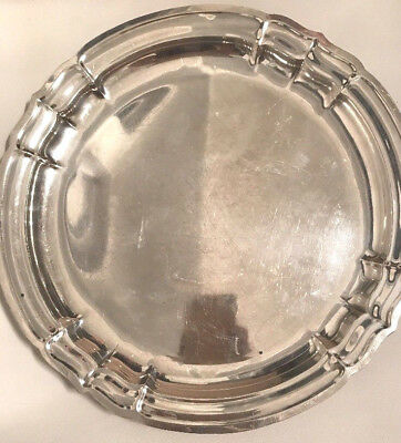 "Large 12"" Antique Reed Barton Sterling Silver Tray X 596 Newport"
